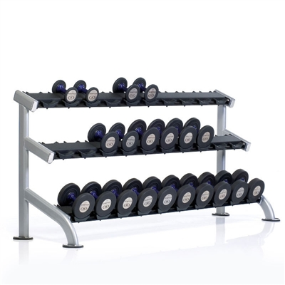 PPF-754 TUFF STUFF 3-Tier Saddle Dumbbell Rack, 15 pair